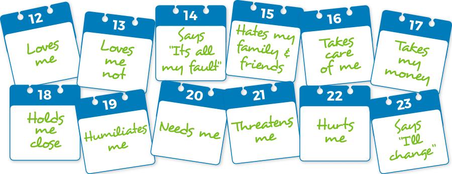 Domestic Abuse calendar graphic